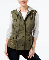 INC International Concepts Mixed-Media Utility Jacket, Created for Macy's