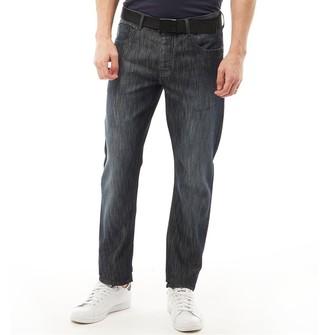 Kangaroo Poo Mens Straight Leg Jeans Dark Wash