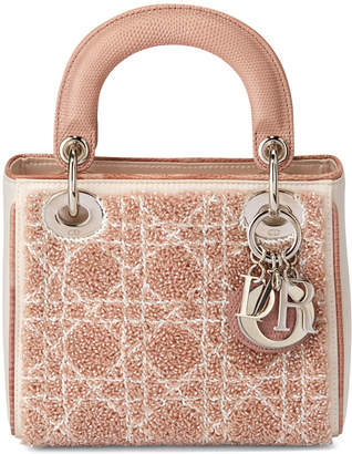 Christian Dior Lady Beaded Leather Mini Tote, Pink