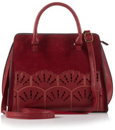 Tu clothing Berry Red Orient Lazer Cut Bag