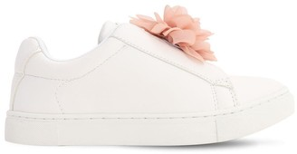 Colors of California Faux Leather Slip-on Sneakers W/ Flower