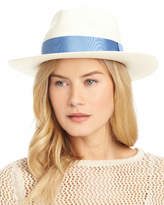 J.Mclaughlin Palm River Unisex Straw Grosgrain Hat