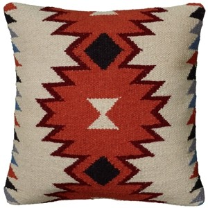 """Rizzy Home 18"""" x 18"""" Medallion Poly Filled Pillow"""