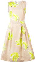 MSGM open back flared dress - women - Cotton - 38