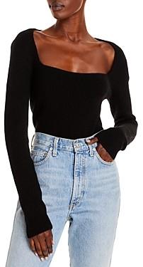 Vince Cashmere Square Neck Sweater