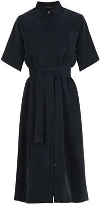 Flow Essential Shirt Dress In Black