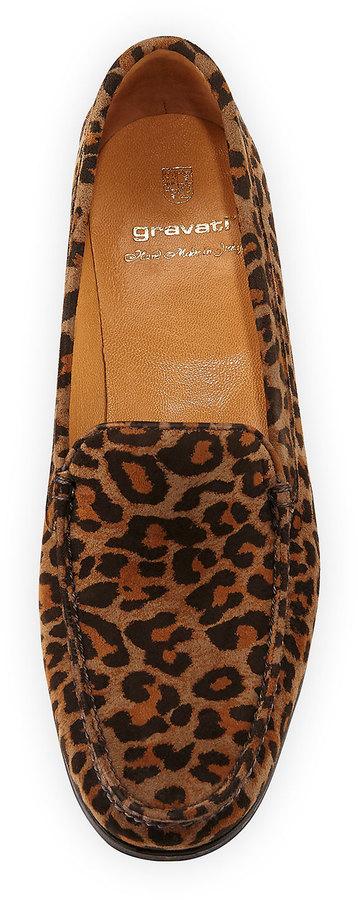 Gravati Leopard-Print Suede Loafer