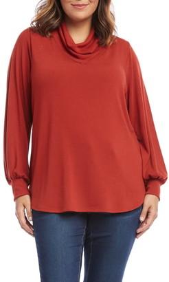 Karen Kane Cowl Neck Blouson Sleeve Sweater