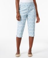 Alfred Dunner Petite Blue Lagoon Printed Pull-On Capri Pants