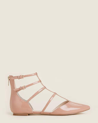 Marc Fisher Nude Scout Caged Patent Flats
