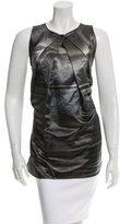 Vera Wang Wool & Silk-Blend Sleeveless Top