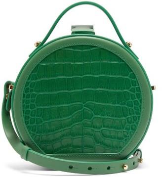 Nico Giani Tunilla Mini Crocodile-effect Leather Bag - Green