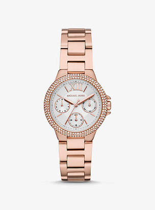 Michael Kors Mini Camille Pave Rose Gold-Tone Watch - Rose Gold