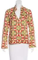 Tory Burch Long Sleeve Patterned Top