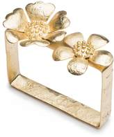 Josie Natori Gold Plated Brass Peony Bracelet