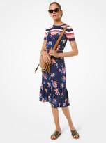 MICHAEL Michael Kors Floral Viscose Slip Dress