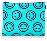 Baggu Medium Flat Nylon Zip Pouch - Blue/green