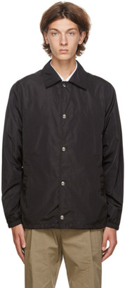 Givenchy Black Refracted Logo Coach Jacket