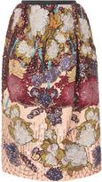 Rochas Pencil Skirt Full Embroidered