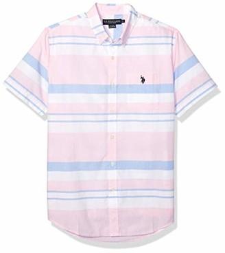 U.S. Polo Assn. Men's Multicolor Engineered Stripe Classic Fit Sport Shirt