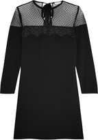 Sandro Ryde tulle and lace-paneled crepe mini dress