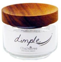 Chabatree - 325ml Teak Wood Dimple Storage Jar - wood | Teak wood