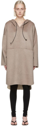 Totême Taupe Wool Cashmere Pullover Coat