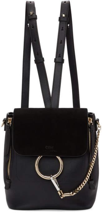Chloé Black Small Faye Backpack