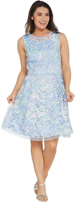 Isaac Mizrahi Live! Special Edition Printed Lace Dress