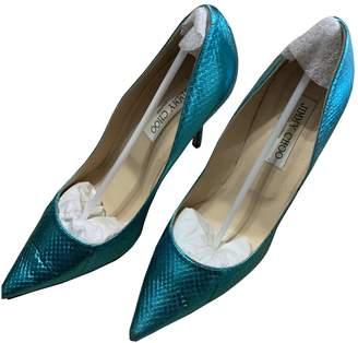 Jimmy Choo Anouk Blue Leather Heels