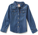 Levi's 2T-6X The Western Long-Sleeve Denim Top