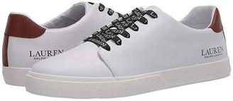 Lauren Ralph Lauren Joana (White/Deep Saddle Tan) Women's Shoes