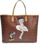 Moschino Betty Boop Shopper Bag in Camel Leather