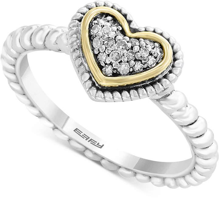 Effy Kidz Children's Diamond Accent Heart Ring in Sterling Silver & 18k Gold