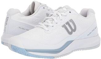 Wilson Rush Pro 3.0 (White/Cashmere Blue/Illusion Blue) Women's Tennis Shoes