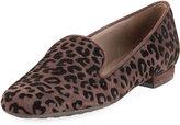 Sesto Meucci Kinnie Leopard-Print Loafer, Brown