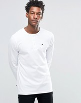 Tommy Hilfiger Long Sleeve Top With Henley Neck In White