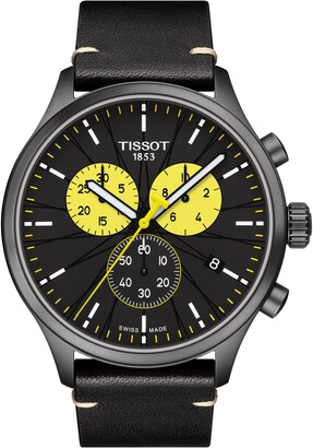 Tissot Chrono XL Tour de France 2019 Chronograph Leather Strap Watch, 45mm