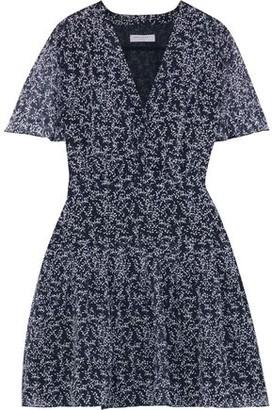 Equipment Lisle Pleated Floral-print Silk-chiffon Mini Dress