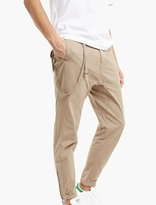 Helmut Lang Camel Curved Hem Trousers