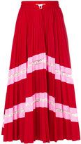 Valentino patterned pleated midi skirt