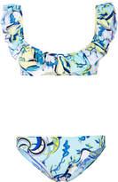 Emilio Pucci ruffled printed bikini set