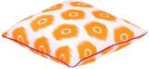 "Entryways Vibrant Orange Ikat Circles Throw Pillow - 20""x20"""