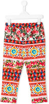Dolce & Gabbana printed casual trousers - kids - Cotton/Spandex/Elastane - 4 yrs