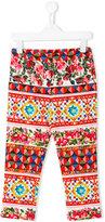 Dolce & Gabbana printed casual trousers - kids - Cotton/Spandex/Elastane - 8 yrs