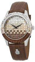 Burgmeister Women's ' Quartz Stainless Steel and Leather Casual Watch, Color:Brown (Model: BMY01-195B)