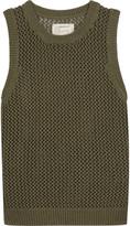 Current/Elliott The Rope Stitch open-knit cotton-blend tank