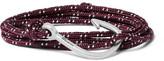 Miansai Hook Cord Silver-plated Wrap Bracelet - Burgundy