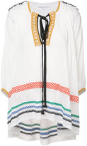 Sonia Rykiel embroidered tunic top - women - Cotton/Linen/Flax/Nylon - M