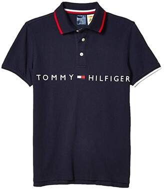 Tommy Hilfiger Adaptive Polo Shirt with Magnetic Buttons (Little Kids/Big Kids) (Navy Blazer) Men's Clothing